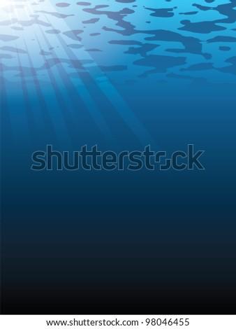 underwater vector background eps 10 - stock vector