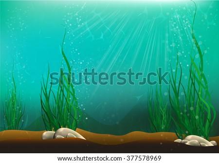 Underwater view - stock vector