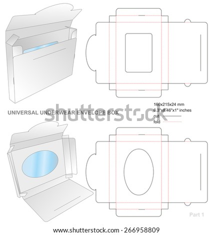 Underwear Envelope Box - stock vector