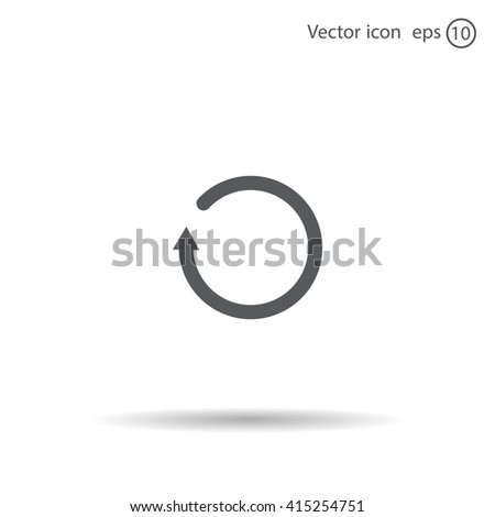 Undo icon, back arrow symbol - stock vector