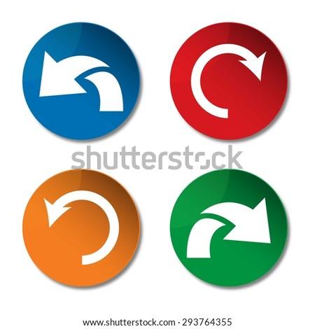 Undo icon. Redo icon. Refresh icon. Arrow icon. Vector - stock vector