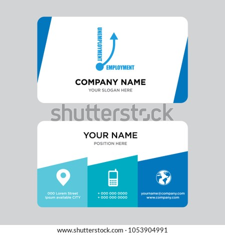 Unemployment business card design template visiting stock vector unemployment business card design template visiting for your company modern creative and clean identity colourmoves