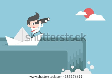 unexpected situation - stock vector