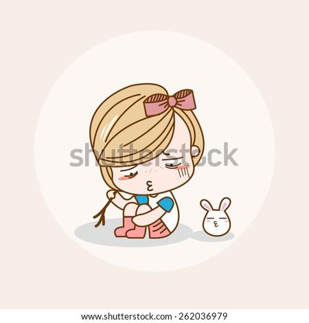 Unhappy / Unhappy Vector / Unhappy Illustration / Unhappy Picture / Unhappy Drawing / Unhappy Image / Unhappy Graphic / Unhappy Painting / Unhappy JPG / Unhappy JPEG / Unhappy EPS / Unhappy AI - stock vector