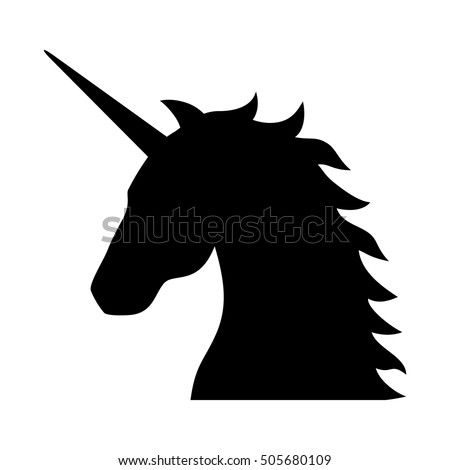 Unicorn Head Silhouette Simple – images free download