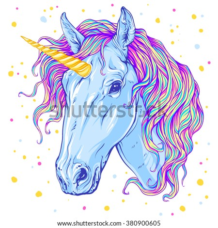 Unicorn. Vector illustration - stock vector