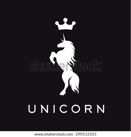 Unicorn vector logo icon flat style illustrations - stock vector