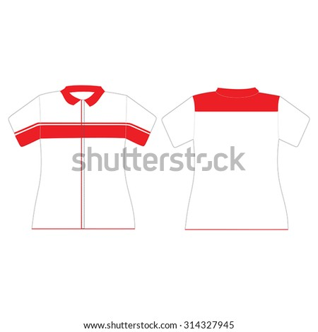 Uniform design template for woman - stock vector