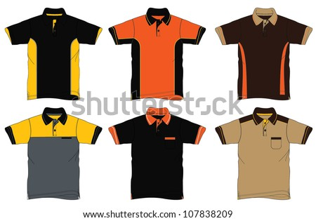 Uniform Polo Shirt Design - stock vector