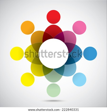 Union  color symbol on the gray background - stock vector