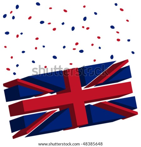 union jack concept, abstract vector art illustration - stock vector