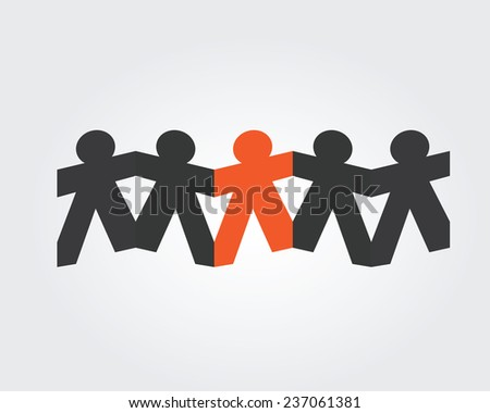 unique and different concept - stock vector