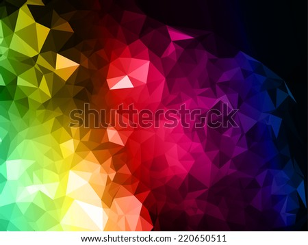 Unique Colorful Triangle Background