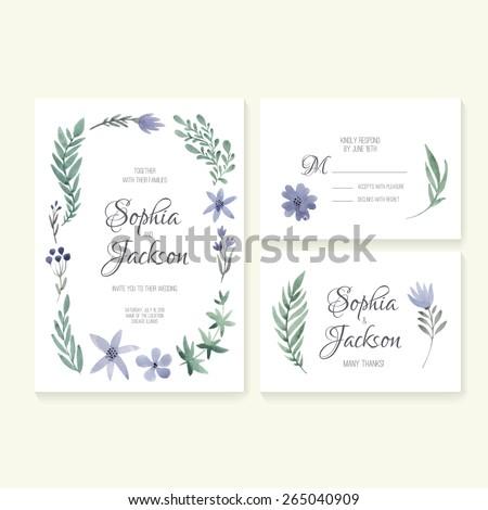 Unique Gentle Vector Wedding Cards Template Vector 285191639 – Rsvp Wedding Cards Template