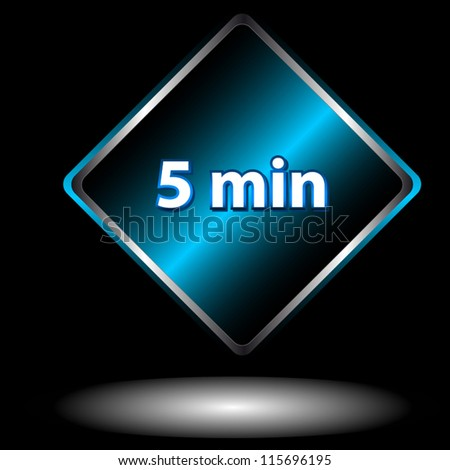Unique icon of hours with five minutes - stock vector