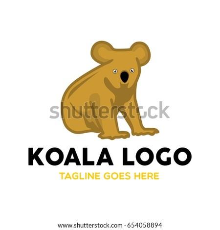 Unique Koala Logo Mascot Character Template Stock Vector 654058894 ...