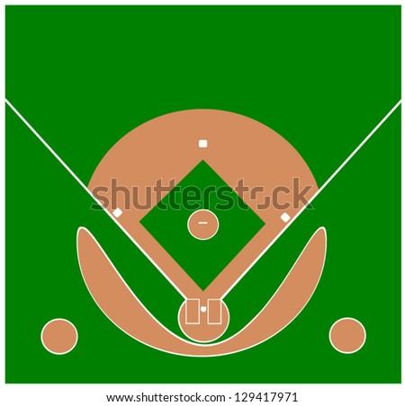 unique modern design baseball diamond - stock vector