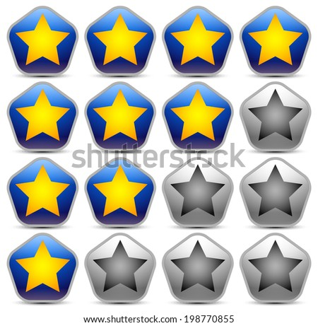 Unique star rating - stock vector