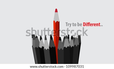 Unique - winner concept illustration, to be different or offering sensational services. - stock vector