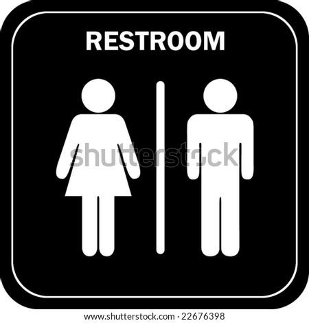 Unisex restroom sign - stock vector