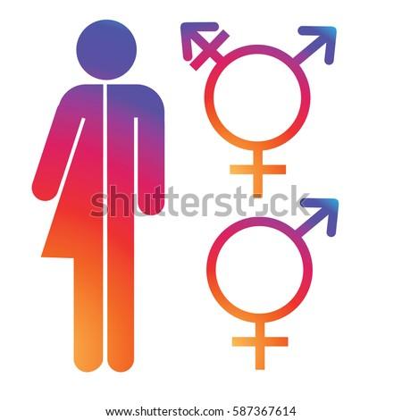 Unisex Symbol Icon Collection Male Female Stockvector Rechtenvrij