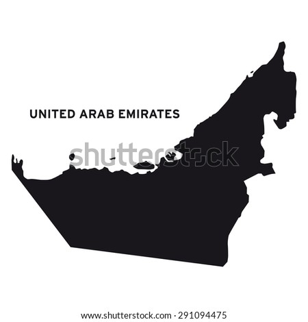 United Arab Emirates map vector - stock vector