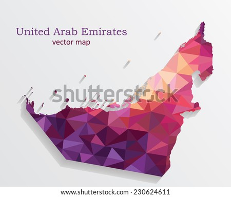 United Arab Emirates map. Vector illustration - stock vector