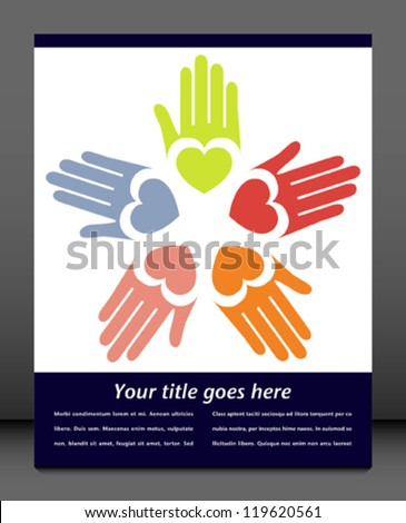 United hands vector. - stock vector