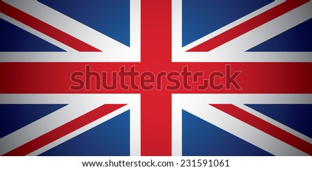 United Kingdom (British Union jack) flag - stock vector