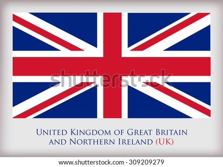United Kingdom flag.British flag vector illustration. - stock vector
