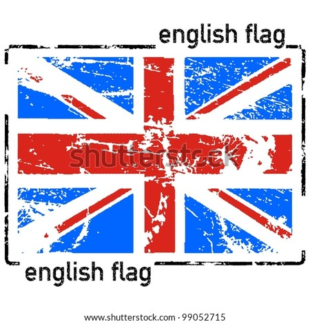 united kingdom flag grunge - stock vector