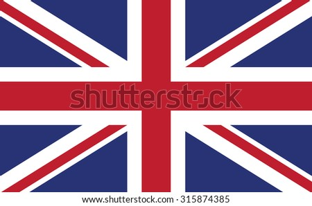 United Kingdom flag. Vector Design EPS10. - stock vector