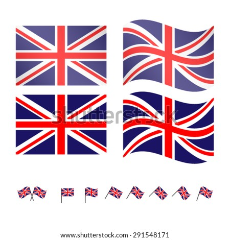 United Kingdom Flags 2 EPS10 - stock vector