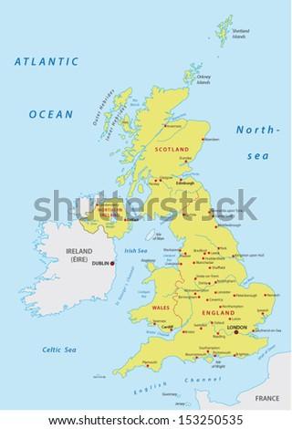 united kingdom map - stock vector