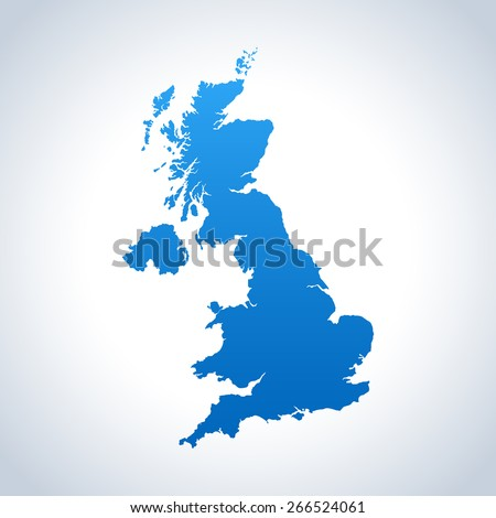 united kingdom map - stock vector