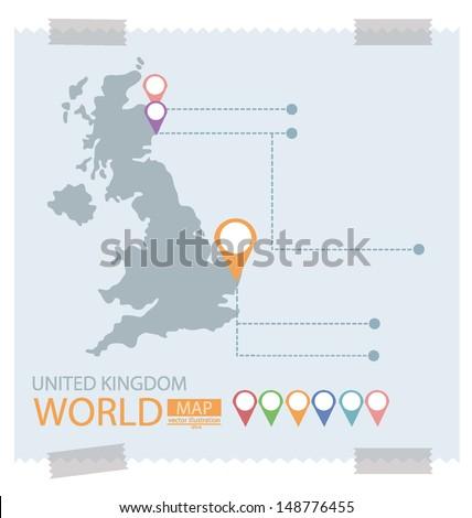 United kingdom. Map vector Illustration. - stock vector