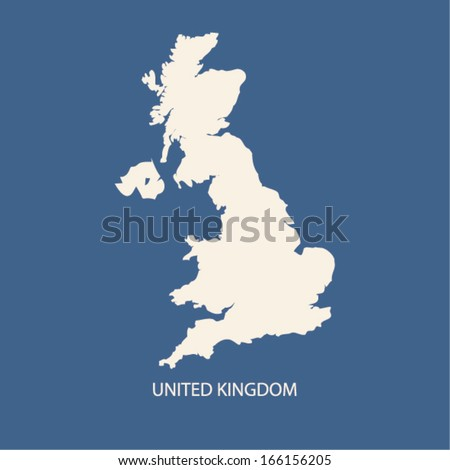 UNITED KINGDOM MAP VECTOR, UK MAP VECTOR - stock vector