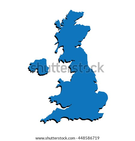 UNITED KINGDOM MAP VECTOR, UK MAP VECTOR