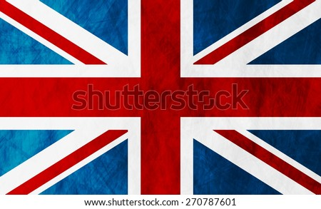 United Kingdom of Great Britain grunge flag. Vector background - stock vector