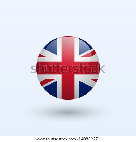 United Kingdom round flag. Vector illustration. - stock vector