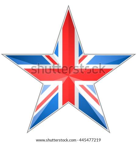United Kingdom Star - stock vector