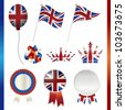united kingdom union jack set - stock photo