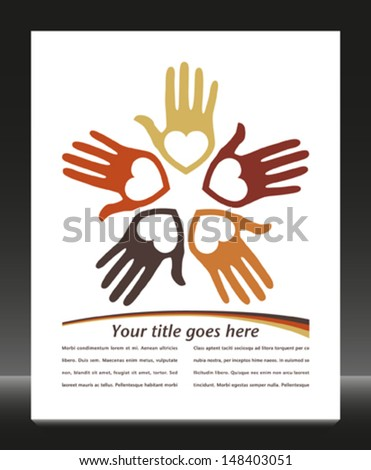 United loving hands with copy space vector.  - stock vector
