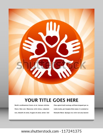 United loving people design with copy space. - stock vector