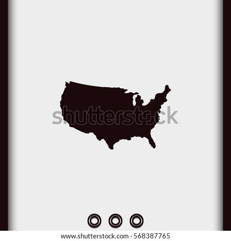 United States Detailed Vector Map Usa Icon