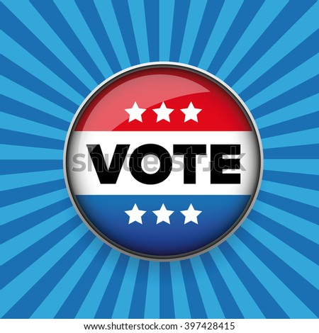 United States Election Vote Button. - stock vector