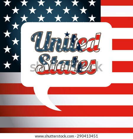 united states emblem design, vector illustration eps10 graphic