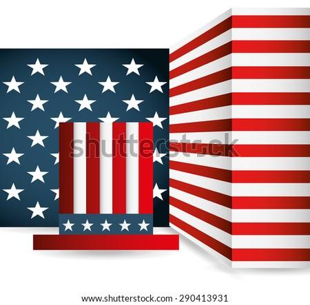 united states emblem design, vector illustration eps10 graphic  - stock vector