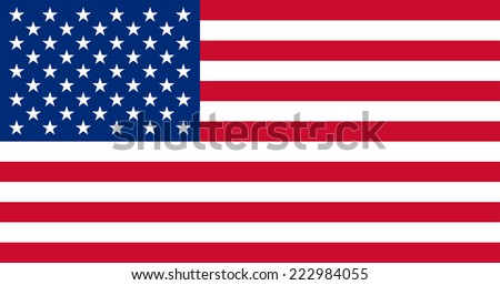 United States Flag (exact proportions and pantone colors). Vector illustration.