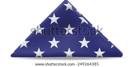 United States Flag folded in a triangle. - stock vector
